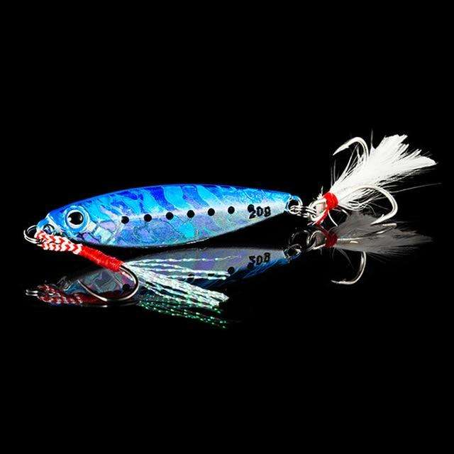 Fishing Trends Online Tackle Shop:QXO Fishing Lure 10 20 30g Jig Light Silicone Bait Wobbler Spinners Spoon Bait Winter Sea Ice Minnow Tackle Squid Peche Octopus,E / 5cm  10g