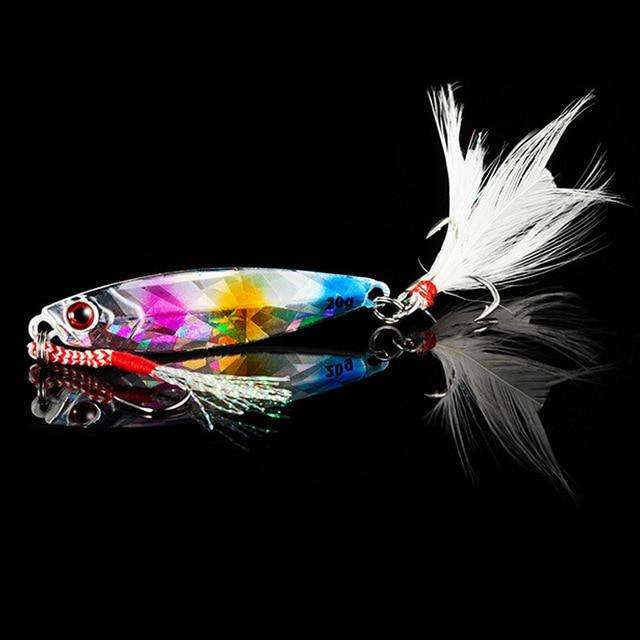 Fishing Trends Online Tackle Shop:QXO Fishing Lure 10 20 30g Jig Light Silicone Bait Wobbler Spinners Spoon Bait Winter Sea Ice Minnow Tackle Squid Peche Octopus,C / 5cm  10g
