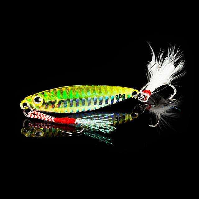 Fishing Trends Online Tackle Shop:QXO Fishing Lure 10 20 30g Jig Light Silicone Bait Wobbler Spinners Spoon Bait Winter Sea Ice Minnow Tackle Squid Peche Octopus,B / 5cm  10g
