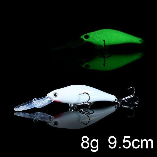 Fishing Trends Online Tackle Shop:QXO Luminous Hard Lure Goods For Fishing Jig Metal Squid Wobbler Minnow Winter Sea Ice Fishing Lead Micro Duck Spinner bait,B