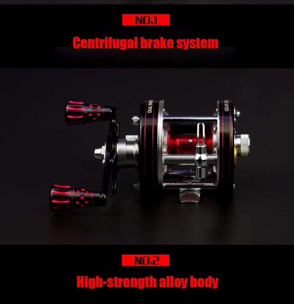 Reel Hd40 Brakes 8 R/l Hand Bait Casting Fishing 6+1Bb 5.3:1 305G