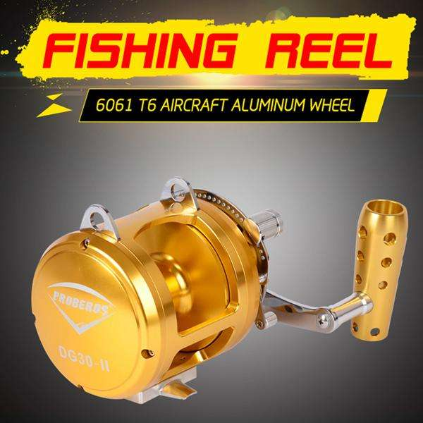 Reel Pro Beros Aluminum Cnc Machined 2-Speed Lever 24Kg Drag Sea Boat Trolling Jigging