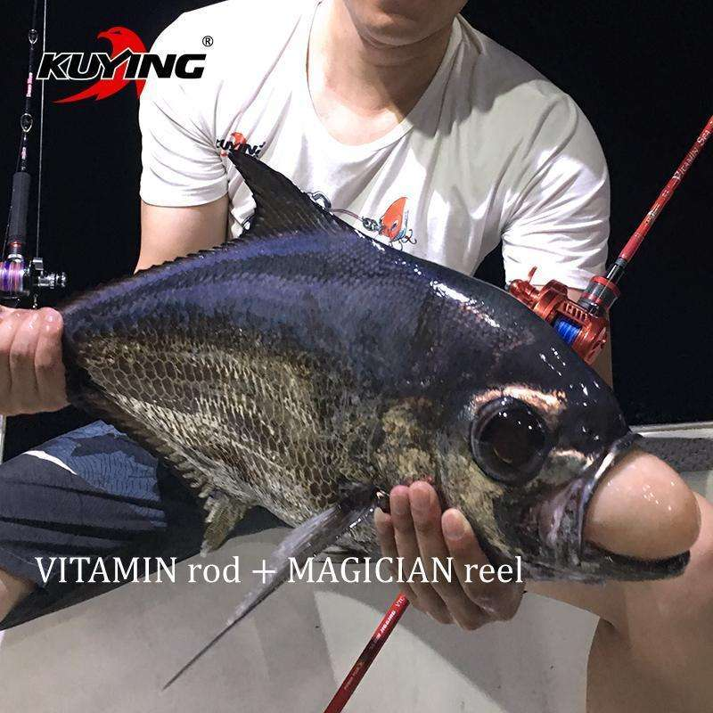 Rod Kuying Vitamin Sea 1 Section 2.04M Carbon Slow Pitch Jigging Spin/cast Fuji Rotate Helical Rings