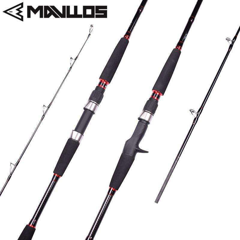Fishing Trends Online Tackle Shop:Rod Mavllos Carbon Spinning Rod 1.8M Lure Weight 70-250g Saltwater Superhard Fast Action Boat Jigging