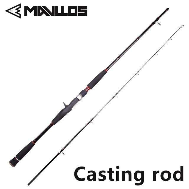 Fishing Trends Online Tackle Shop:Rod Mavllos Carbon Spinning Rod 1.8M Lure Weight 70-250g Saltwater Superhard Fast Action Boat Jigging,White / 1.8 m