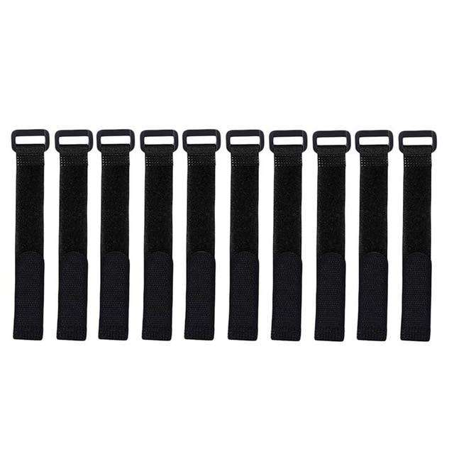 Fishing Trends Online Tackle Shop:Rod Tie 10pcs Reusable Rod Tie Holder Strap Accessories,Black