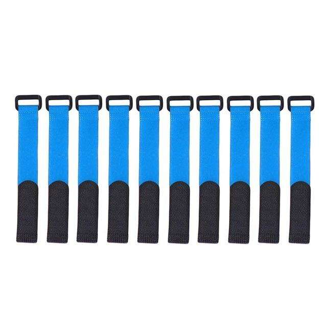 Fishing Trends Online Tackle Shop:Rod Tie 10pcs Reusable Rod Tie Holder Strap Accessories,Blue