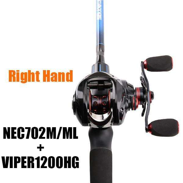 Combo Seaknight Nec Baitcasting Lure Fishing Rod 702M & Ml + Viper 12Bb 6.3:1 7.0:1 High Speed Reel Set