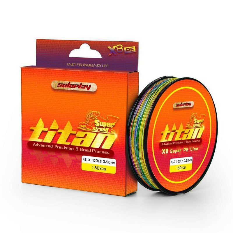Line Braid Soloplay 137M/150Yds 1Meter1Color Extreme Strong 8 Strands Multifilament Pe