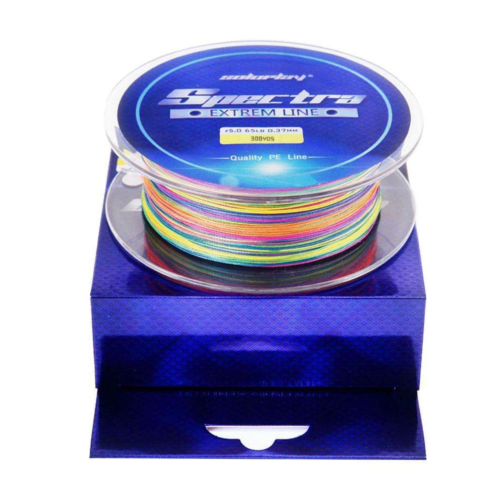Line Braid Soloplay 8X 300Yds 274M 20-100Lb 8 Strands Super Strong Coloured /m
