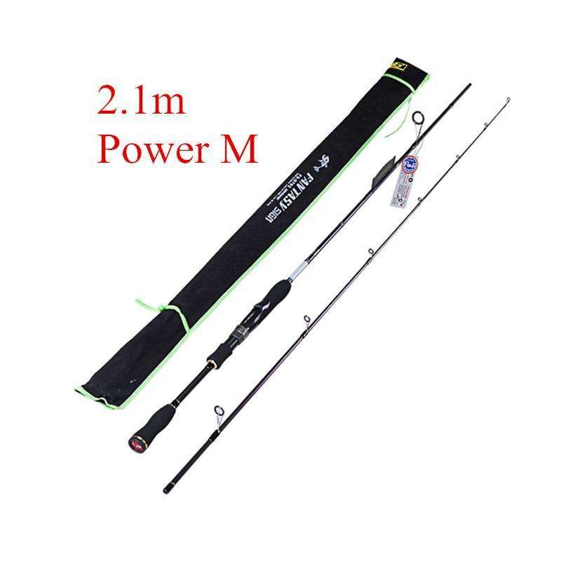 Rod Spinning Fishing Rods Carbon Power M/ml/mh1.8M 2.1M 2.4M Pole
