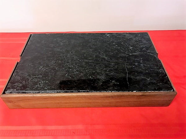 Wood Serving Unit and Soapstone Top w/o Stones