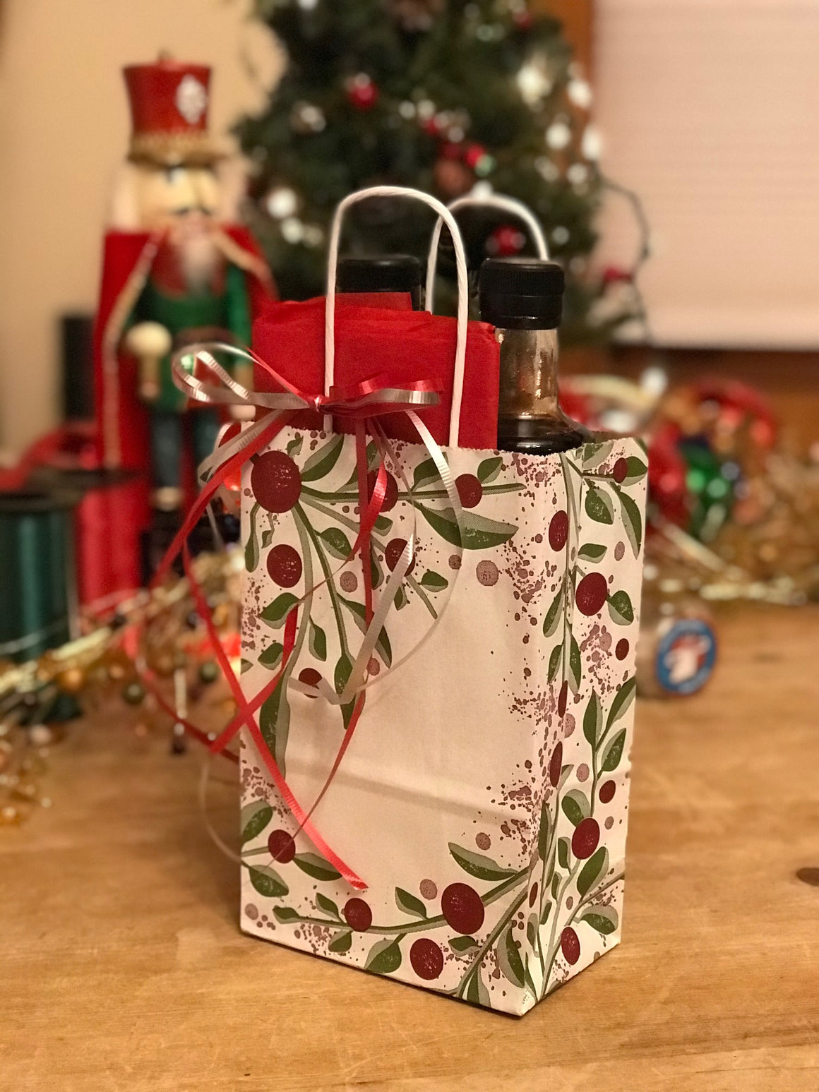 White and Red Gift Bags