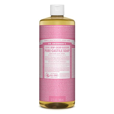 Dr Bronners Pure Castile Liquid Soap - Cherry Blossom