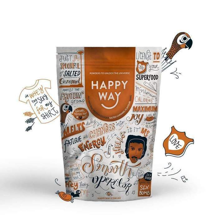 Happy Whey Smooth Operator Salted Caramel Protein Powder 500g