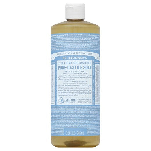 Dr Bronner's Pure Castile Soap - Unscented Baby