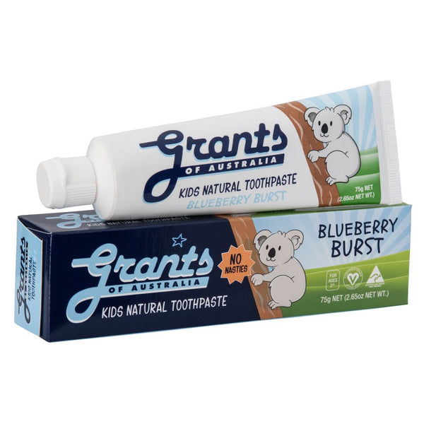 Grants Blueberry Burst Kids Natural Toothpaste 75g