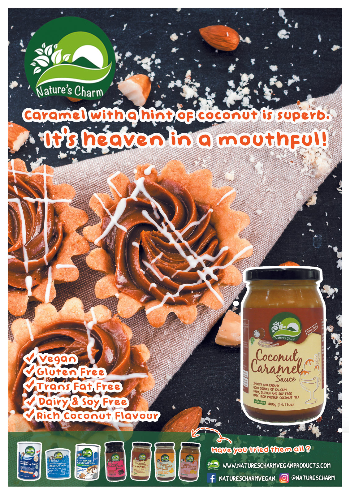 Natures Charm Coconut Butterscotch Sauce 400g