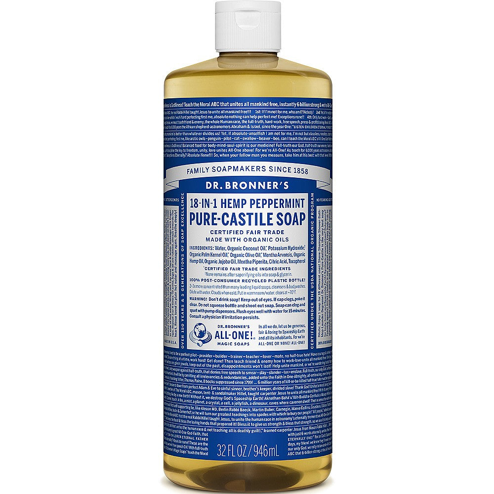 Dr Bronners Pure-Castile Liquid Soap - Peppermint