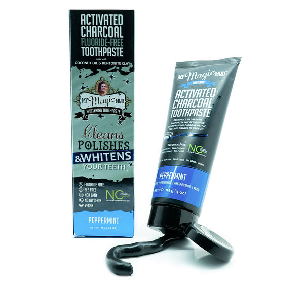 My Magic Mud Whitening Activated Charcoal Toothpaste - Peppermint