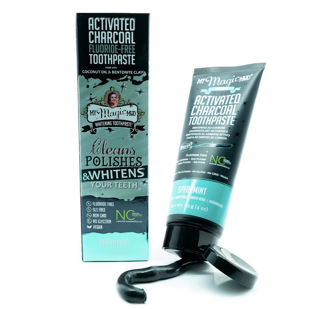 My Magic Mud Whitening Activated Charcoal Toothpaste - Spearmint