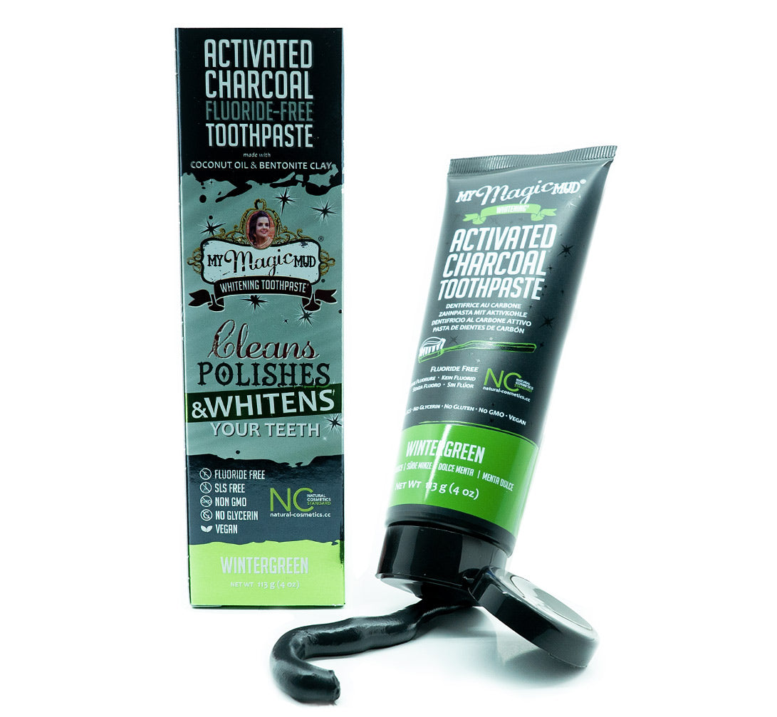 My Magic Mud Whitening Activated Charcoal Toothpaste - Wintergreen