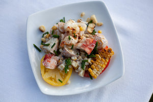 Grilled Lobster, Potato and Charred Corn Salad