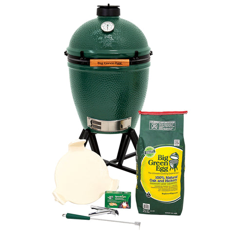Big Green EGG in an intEGGrated Nest+Handler Package