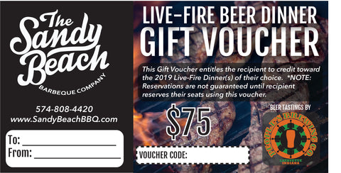 Live-Fire Beer Dinner Gift Vouchers