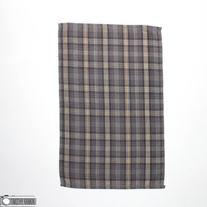 Grey Plaid with Terry Back Tea Towel 100% Cotton - Design Blanks