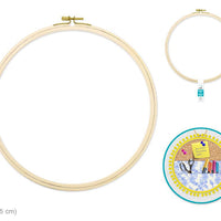 "Wood Embroidery Hoop w/Brass Clamp 12""-Design Blanks"