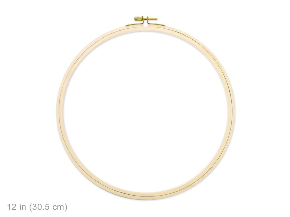 Wood Embroidery Hoop w/Brass Clamp 12