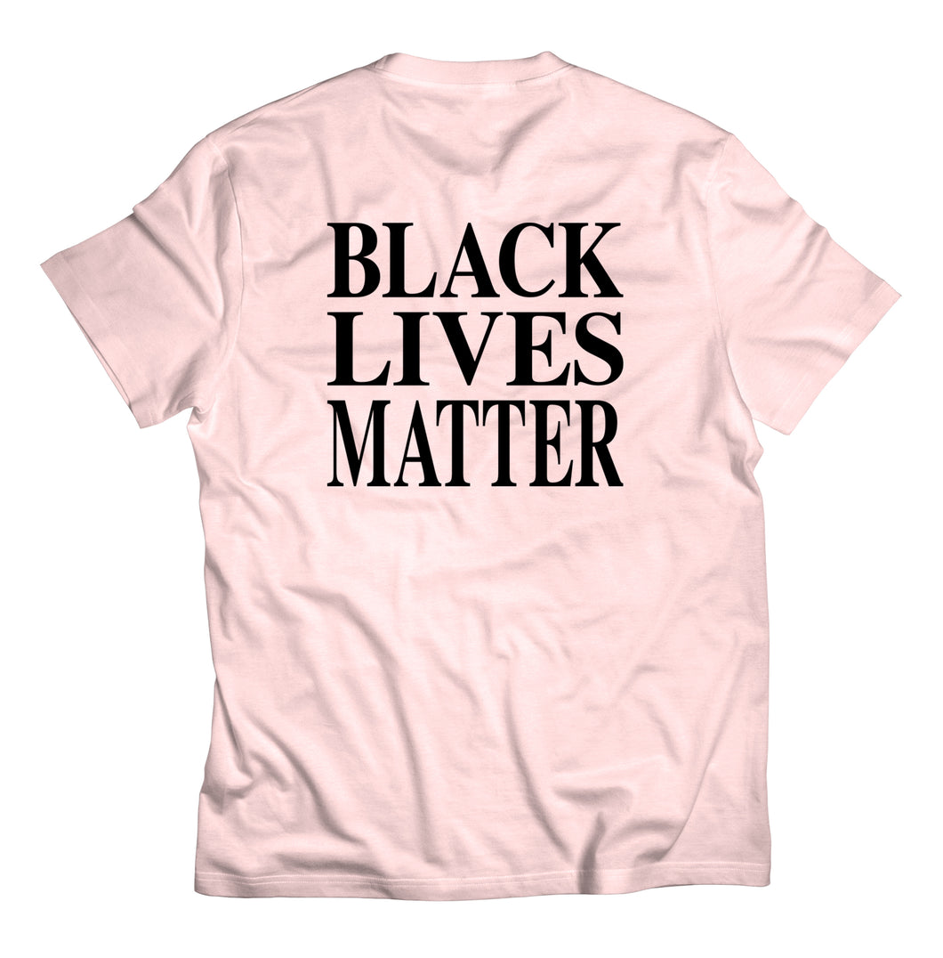 Black Lives Matter Tee - Soft Pink