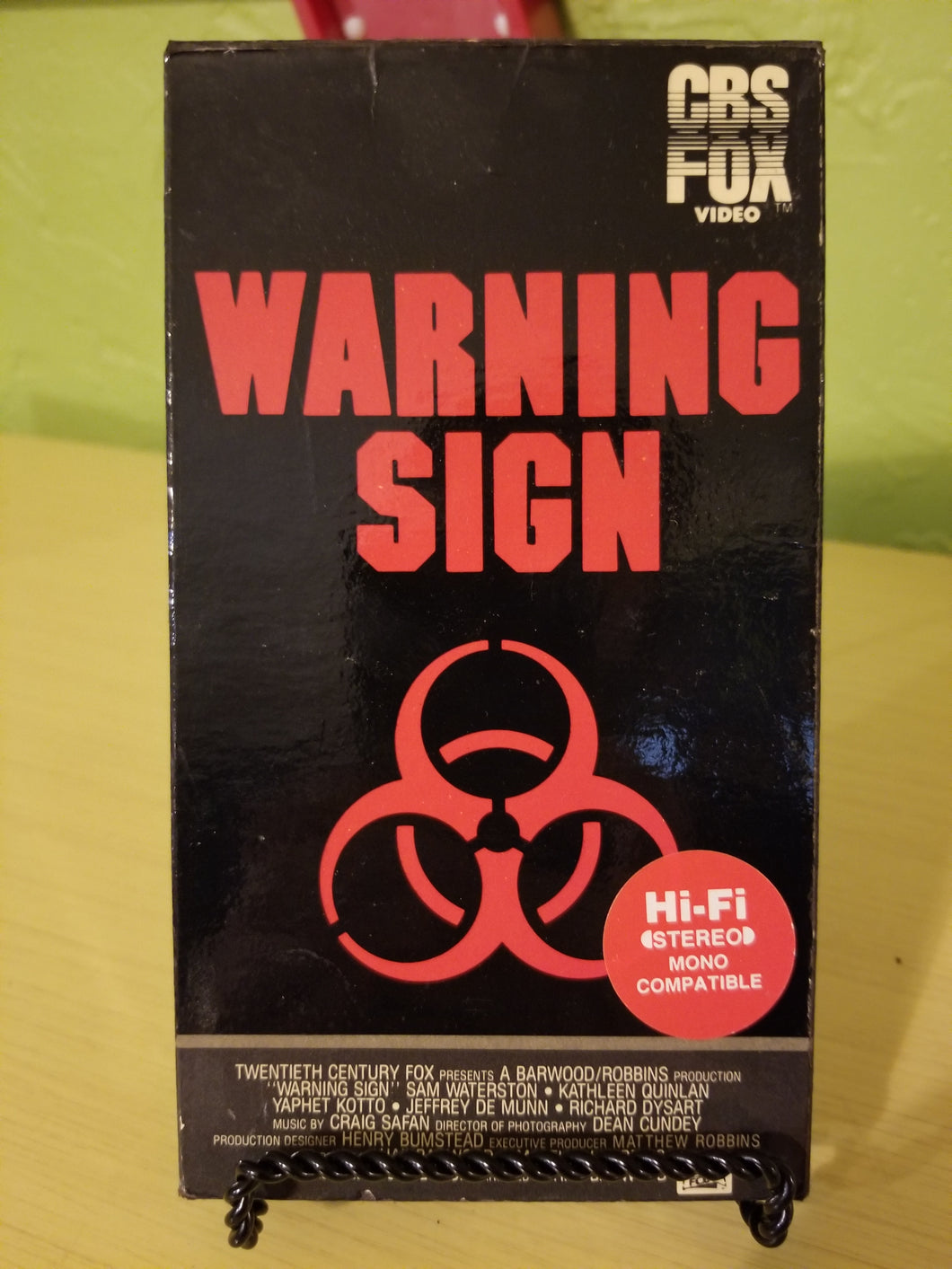 Warning Sign VHS
