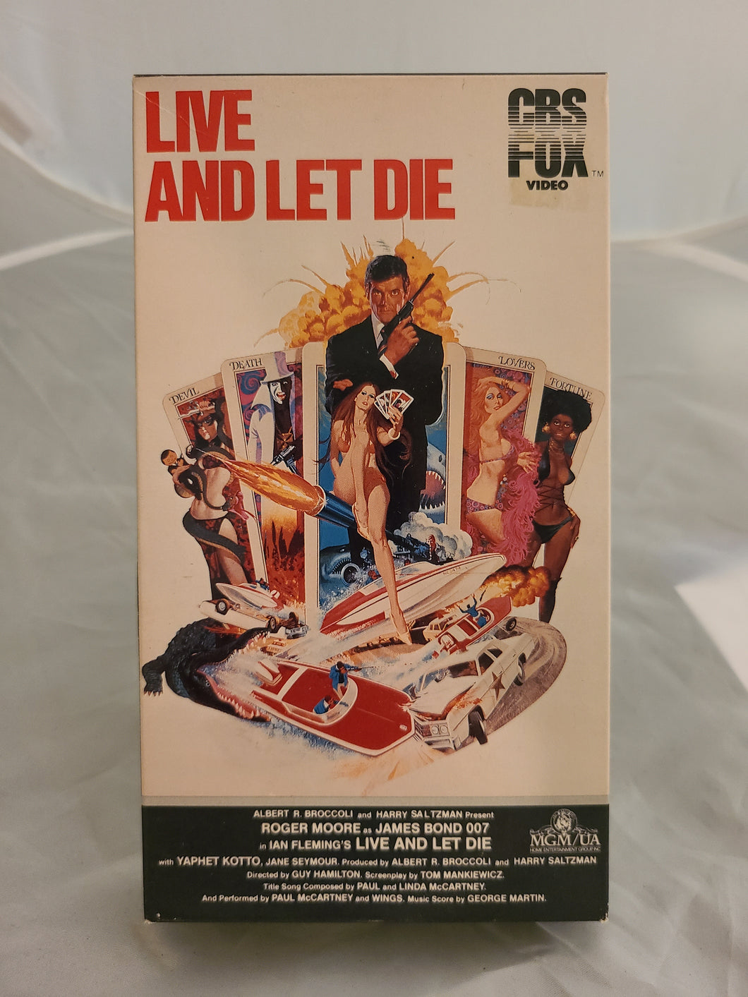 Live and Let Die 007 VHS