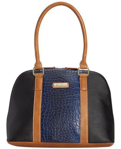 Marc Fisher Day By Day Mixed Dome Satchel Cobalt