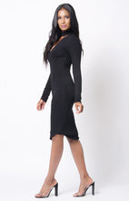 Long Sleeve Choker Dress