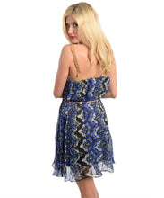 UMGEE USA Womens Tribal Print Dress with Rope Belt Small