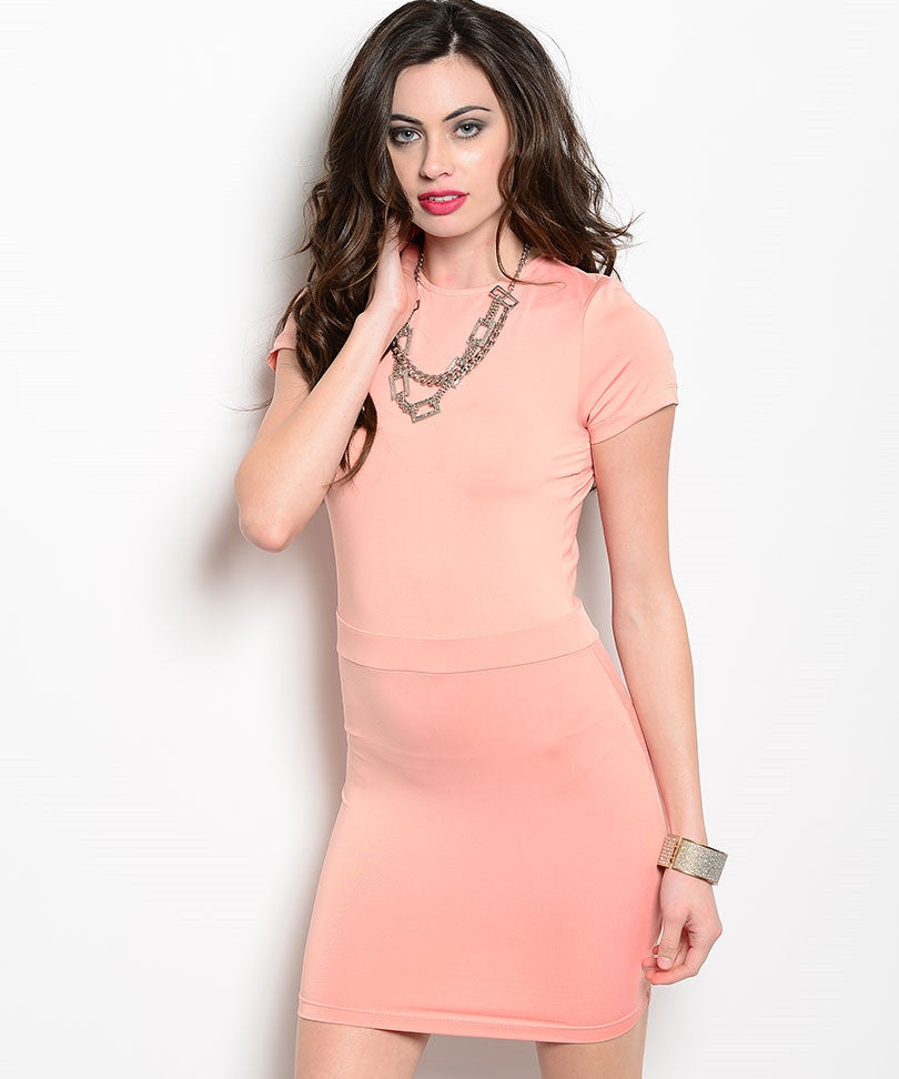 BLVD Collection Juniors  Bodycon Coral Dress