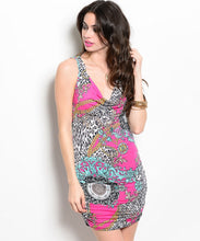 Ambiance Sexy Printed Sleeveless Dress