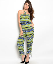 En Creme Womens Tribal Print Strapless Jumpsuit Small