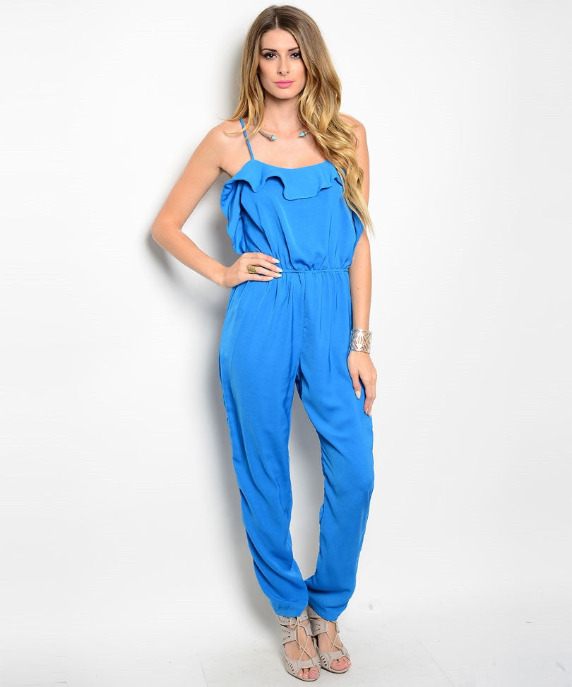 Alythea Womens Spaghetti Strap Jumpsuit Size S