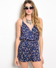 Honey Punch Womens Spaghetti Strap Floral Print Romper