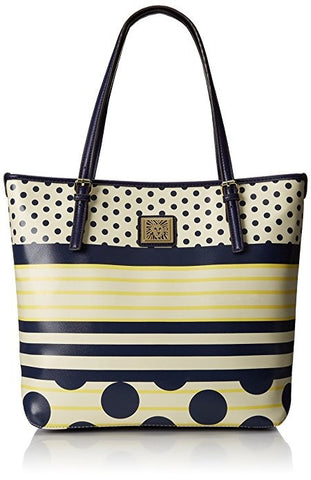 Anne Klein  Perfect Tote Large Navy Butter Multi