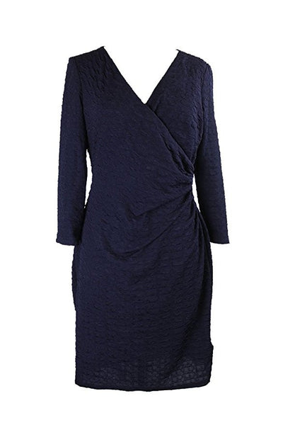 American Living Women's Sheath Textured Faux Wrap Dress Size 14