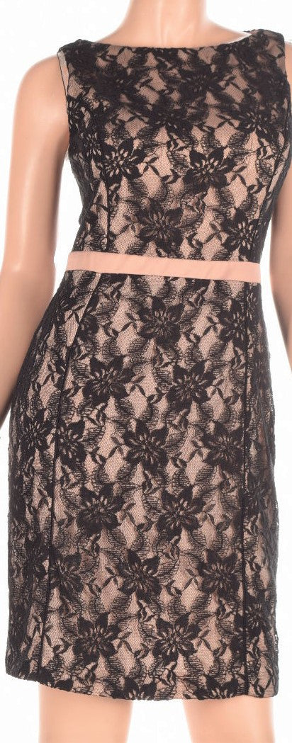 American Living Floral-Lace Sleeveless Dress Black Size 12