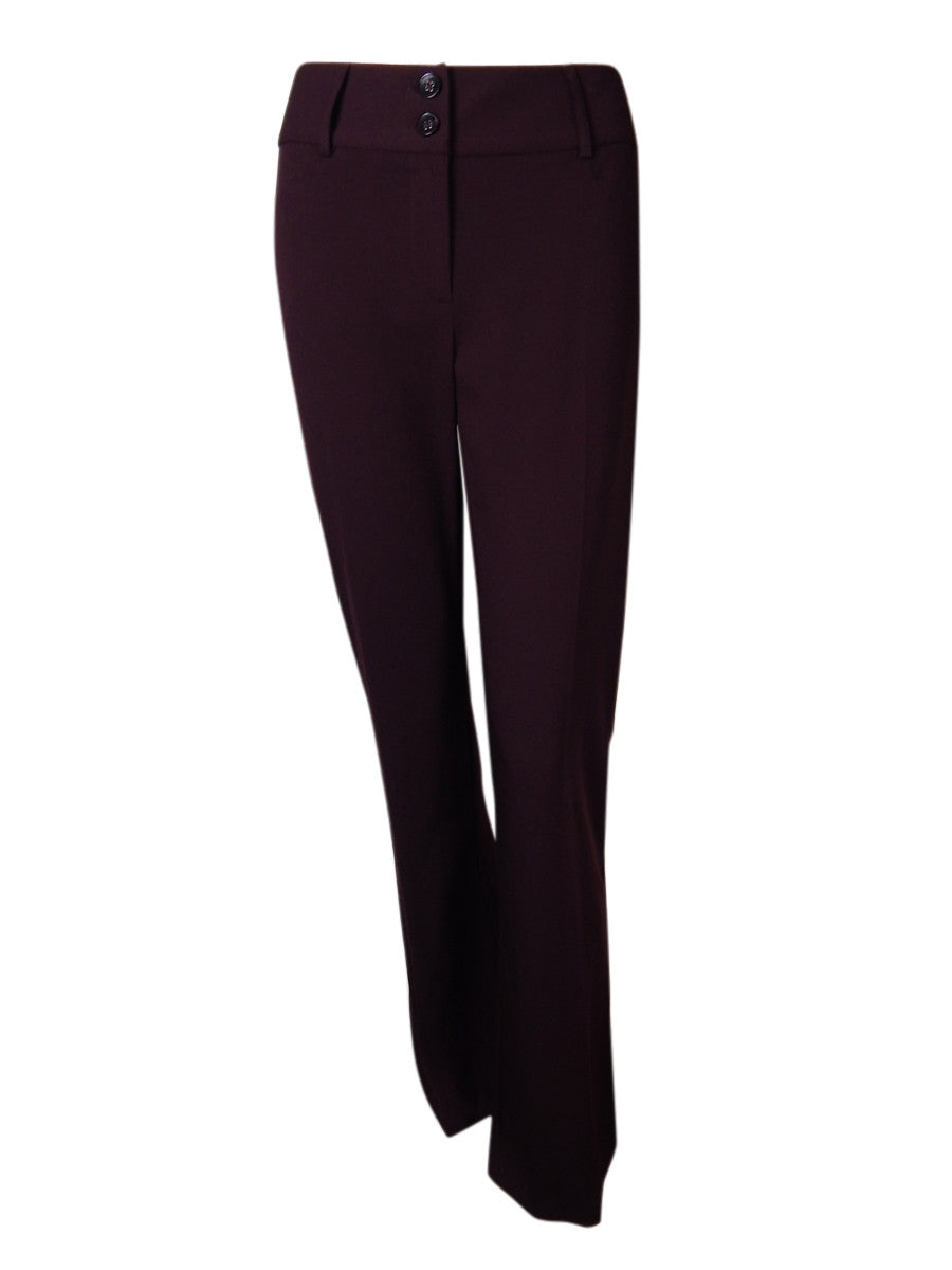 Alfani Two-Button Curvy-Fit Pants, Wine Size 6 Short