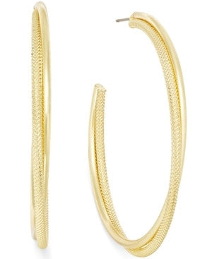 Alfani Mesh Twist Hoop Earrings