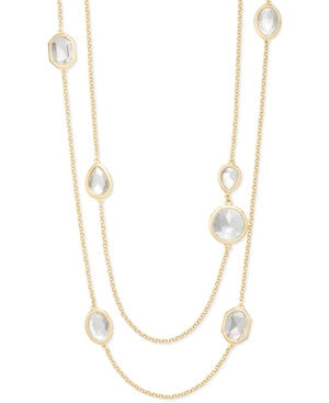 Alfani Crystal Station Two-Row Necklace