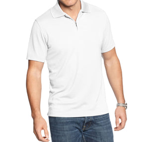 Alfani Men's Bright White Slim Ottoman Quarter-Zip Polo XXL